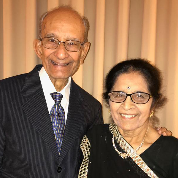 Dr. Sanat Bakshi with wife