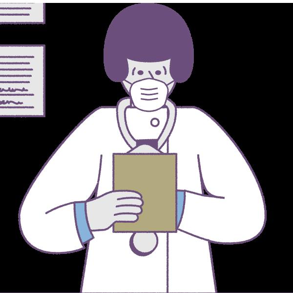 Emergency medicine locum tenens coronavirus illustration