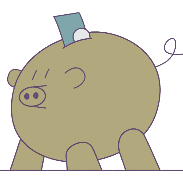 Illustration of piggy bank