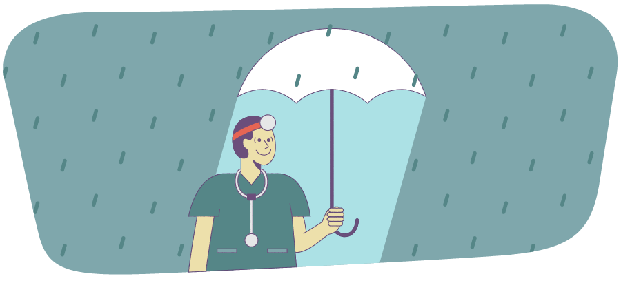 Illustration of how to take care of yourself as a physician