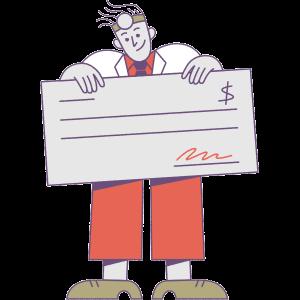 Locum tenens compensation illustration